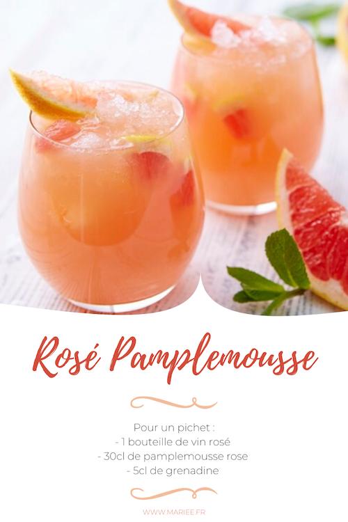 rosé pamplemousse mariage