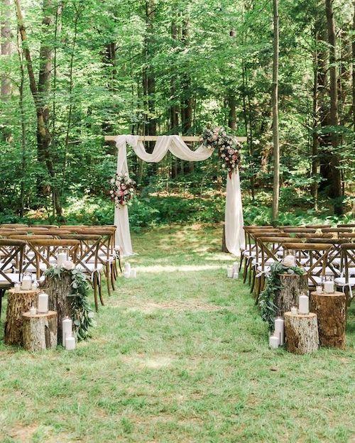 mariage dans le jardin