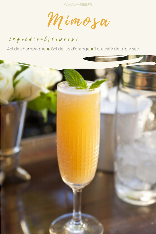 recette cocktail mariage
