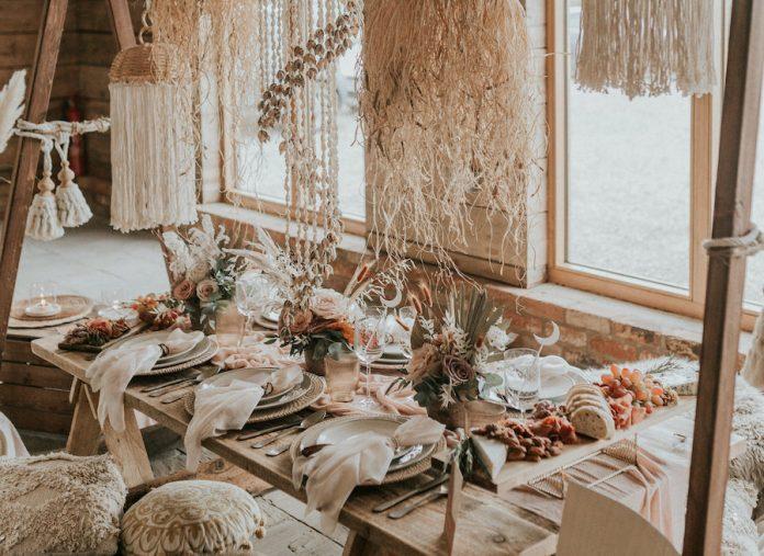 repas mariage bohème