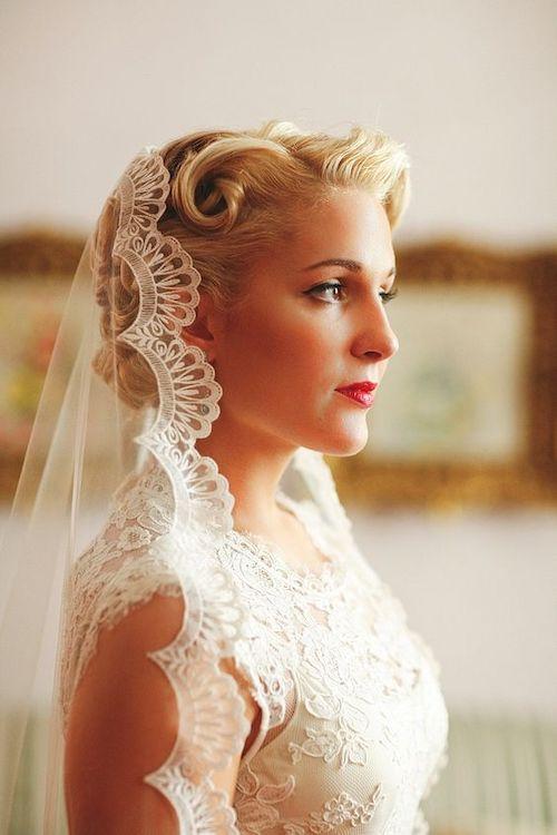 coiffure rétro mariage