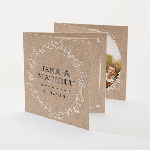 faire part mariage vintage champêtre