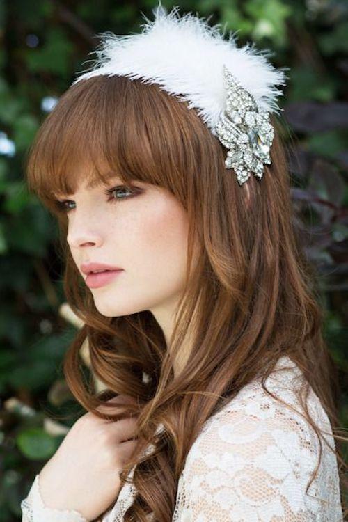 coiffure mariée avec frange