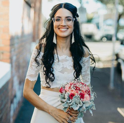 maquillage mariée lunettes