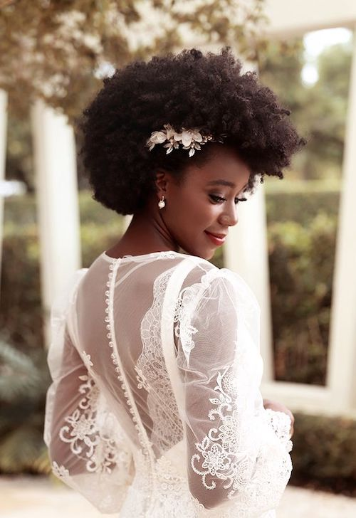 coiffure mariage cheveux afro