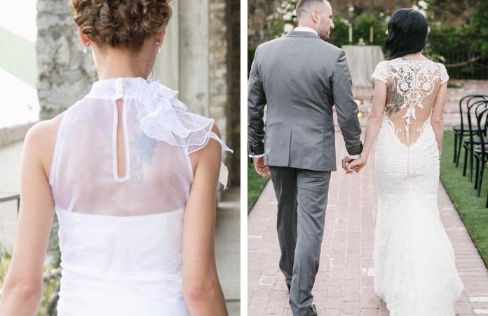 mariée tatouages robes
