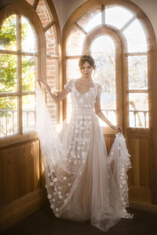 robe de mariée en tulle