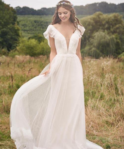 robe de mariée champêtre