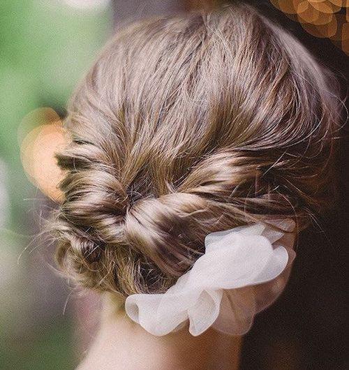 chignon mariage cheveux courts