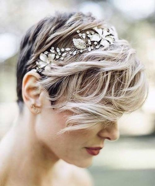 coiffure mariage coupe courte cheveux courts