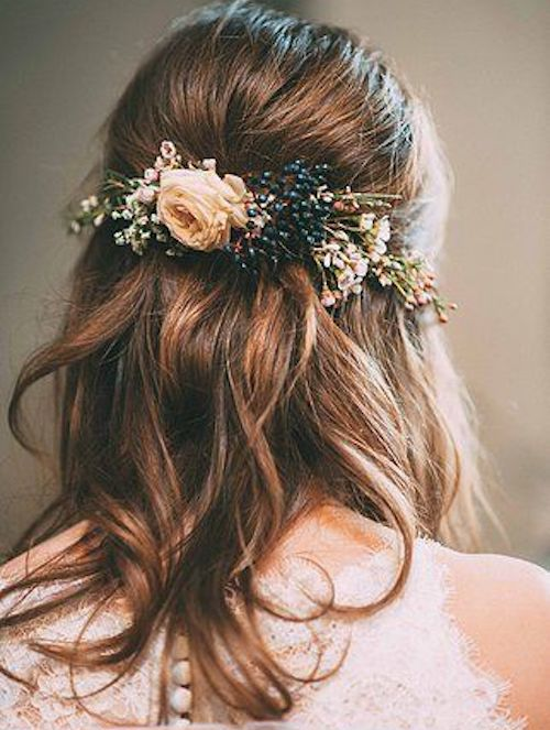 coiffure mariage cheveux mi-longs