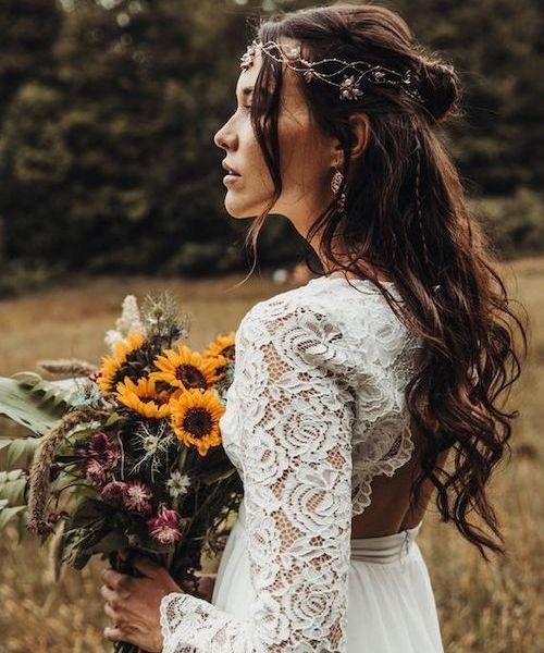tendance coiffure mariage bohème chic
