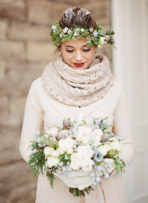 coiffure mariage hiver