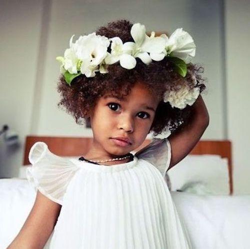coiffure mariage petite fille