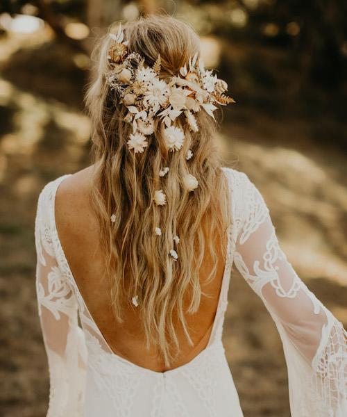 coiffure mariage bohème