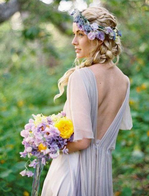couronne de fleur mariage bohème
