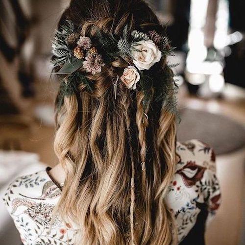 coiffure mariage bohème hiver