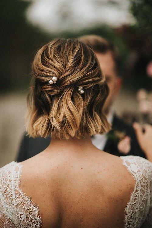 coiffure mariage carré court