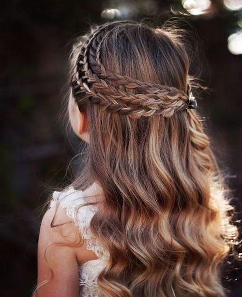 idée coiffure mariage petite fille