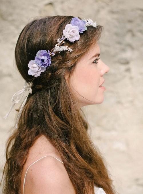 couronne de fleurs mariage accessoire coiffure mariage