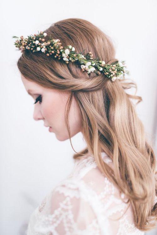 couronne de fleurs mariage champêtre