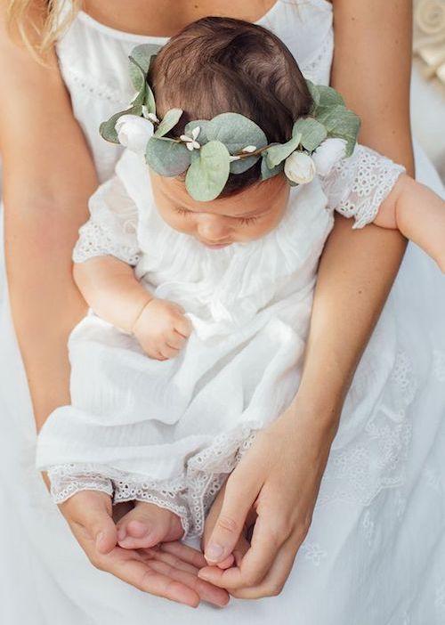 couronne fleur bébé mariage