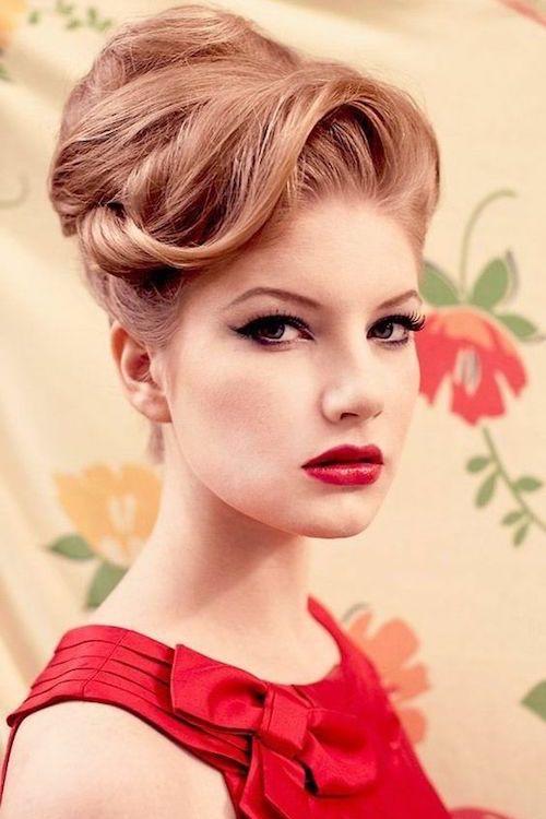 coiffure vintage mariage rétro