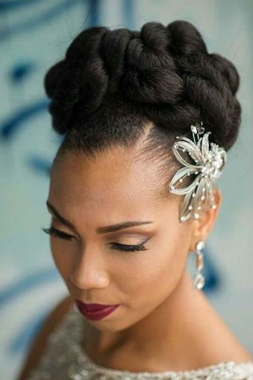 coiffure afro mariage
