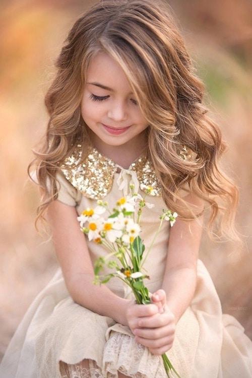 idée coiffure mariage enfant