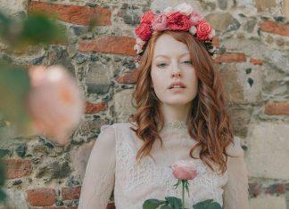 couronne de fleurs mariage coiffure mariage