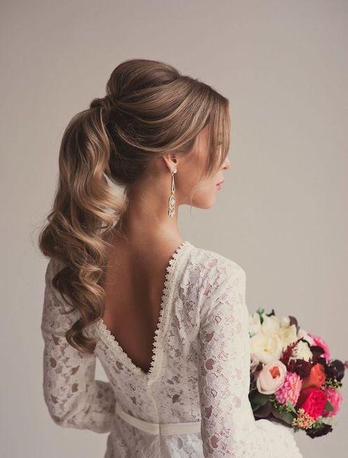 coiffure mariage cheveux longs tendance