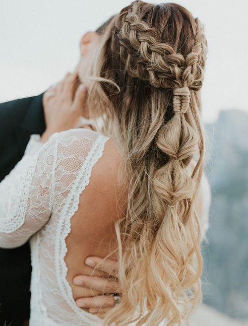 coiffure cheveux longs mariage, tendance coiffure mariée