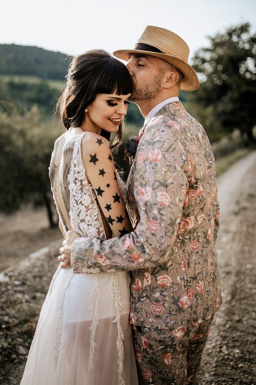 coiffure mariage frange