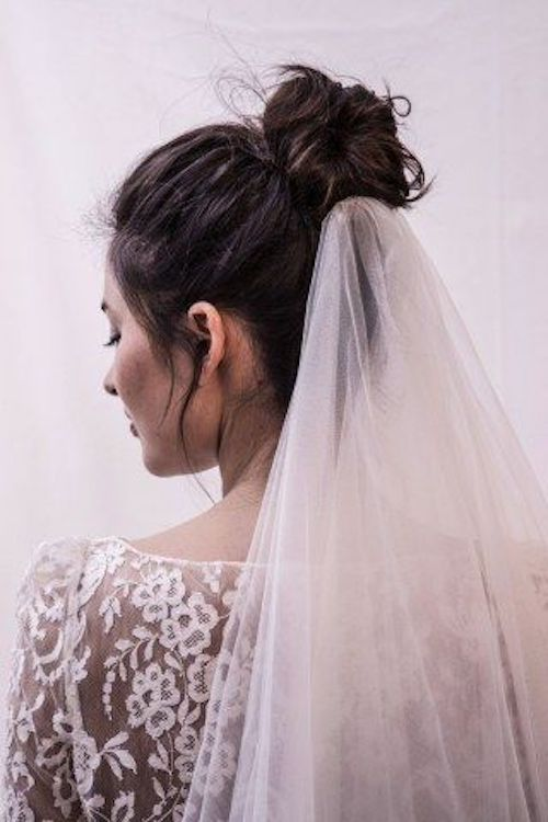 chignon haut mariage