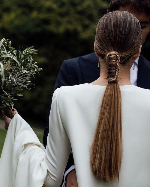 queue de cheval mariage