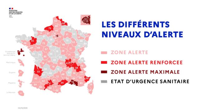 carte zone d'alerte maximale covid