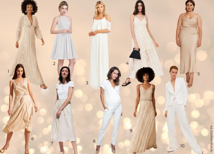 robe blanche demoiselle d'honneur