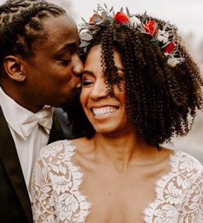 coiffure mariage cheveux crépus, coupe afro mariage