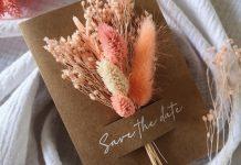 DIY save the date mariage fleurs séchées