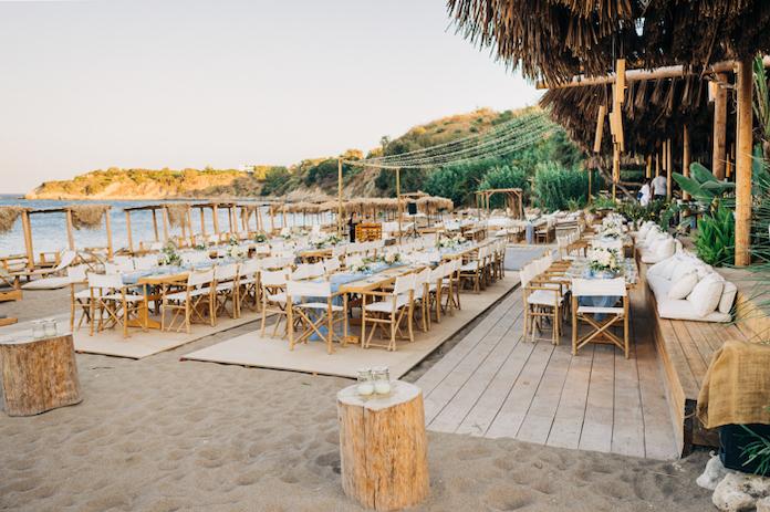 réception mariage plage