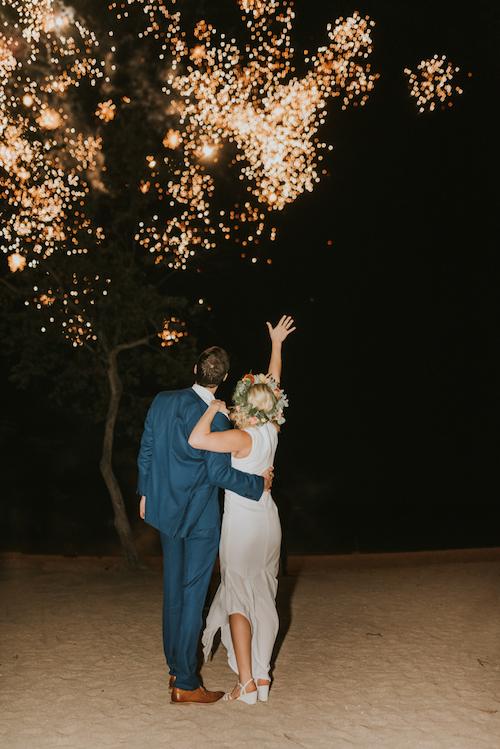 feu d'artifice mariage