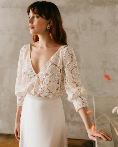 robe de mariée Mademoiselle de Guise collection 2022
